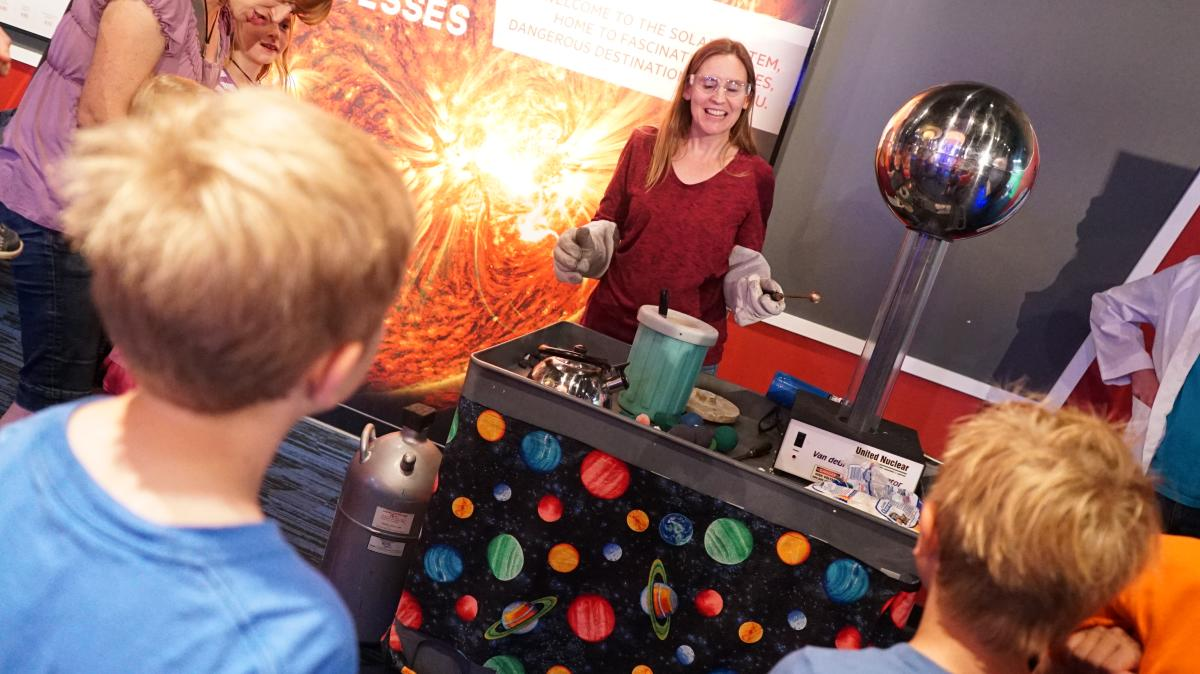Develop an appreciation for science at the Clark Planetarium
