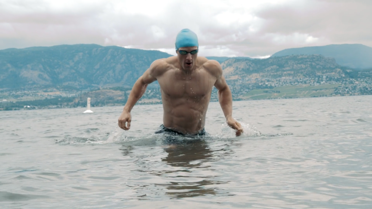 Brent Swimming in Okanagan Lake