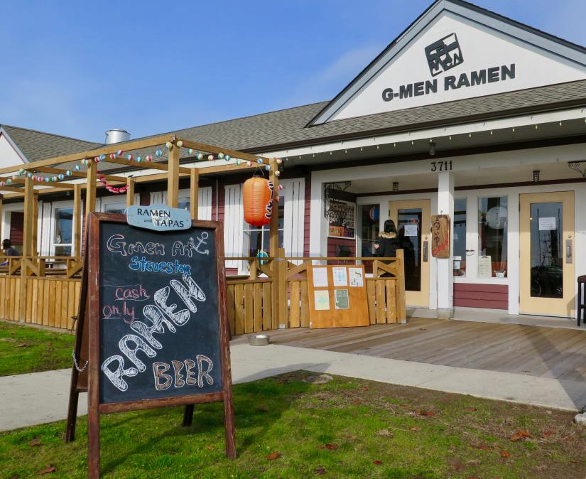 G-men Ramen Store Front and Sign