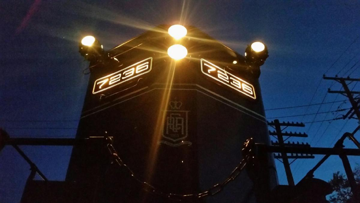 Colebrookdale Railroad Engine at Night