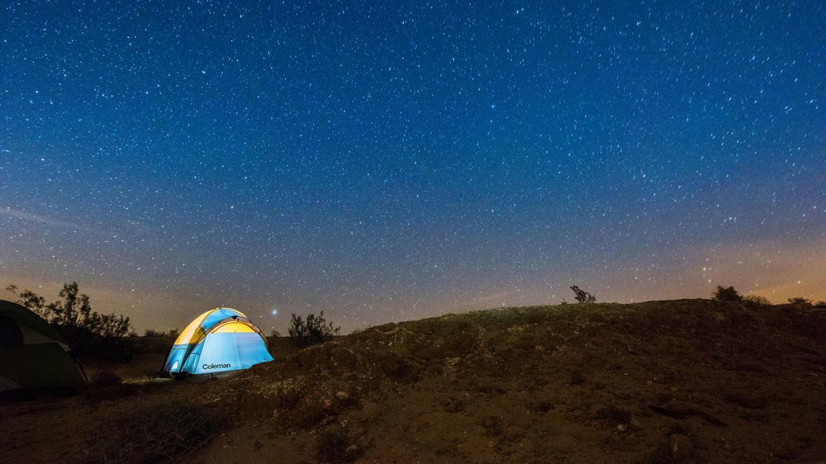 Camping in Anza-Borrego