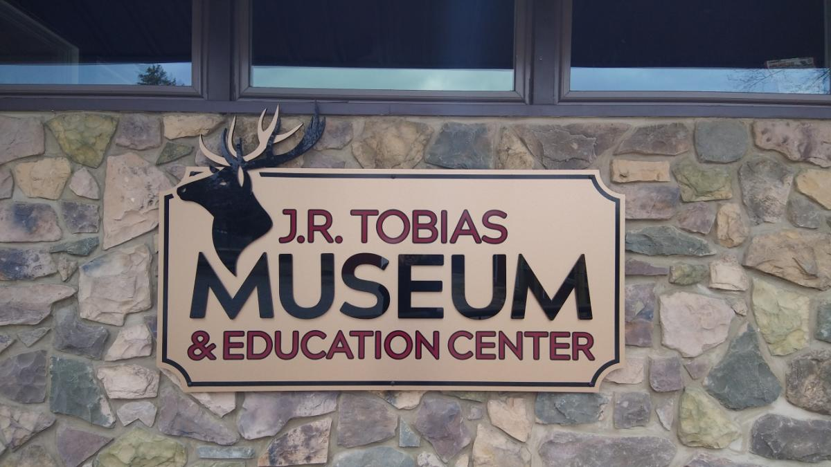 Lake Tobias Museum and Education Center Sign