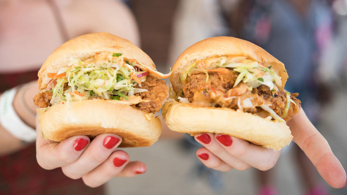 Sandwiches at Coachella