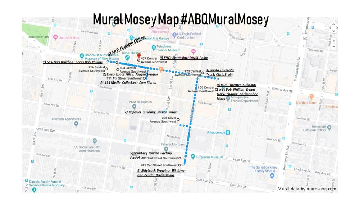 Mural Mosey Map