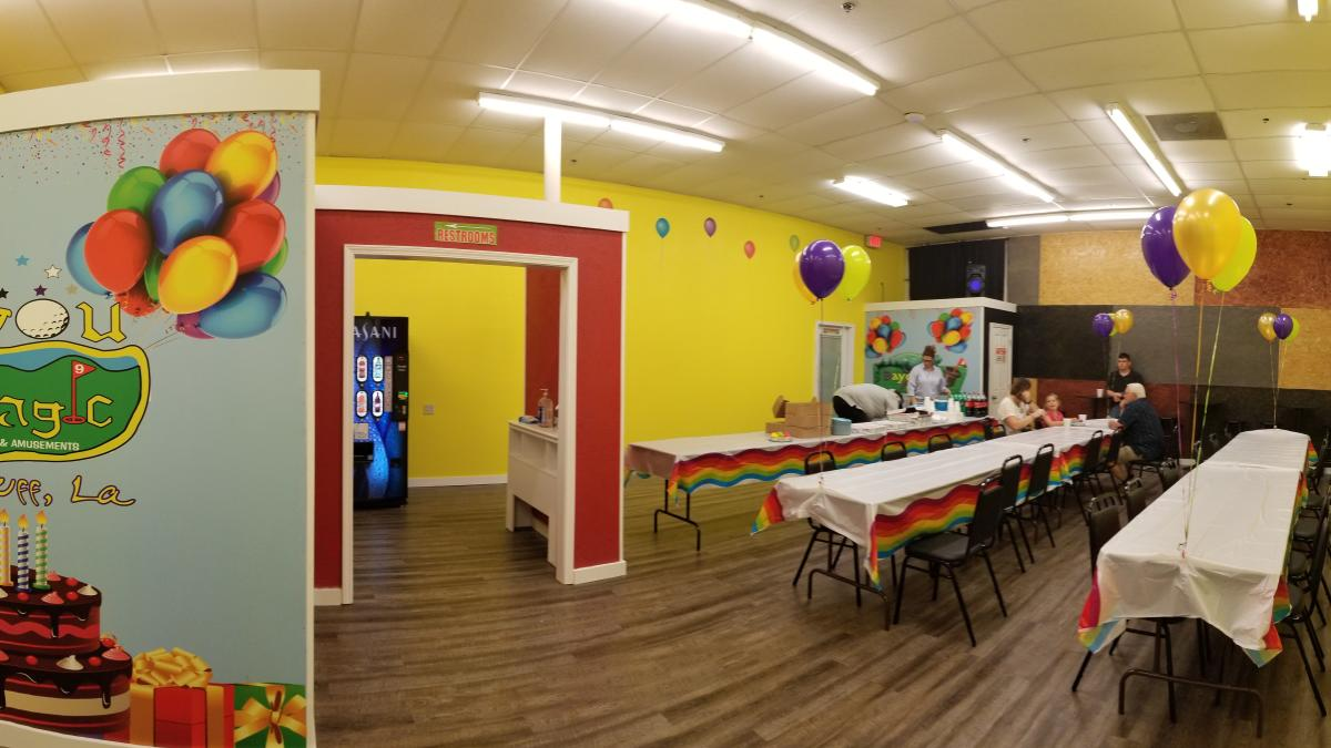 Bayou Magic Fun Center Party Room