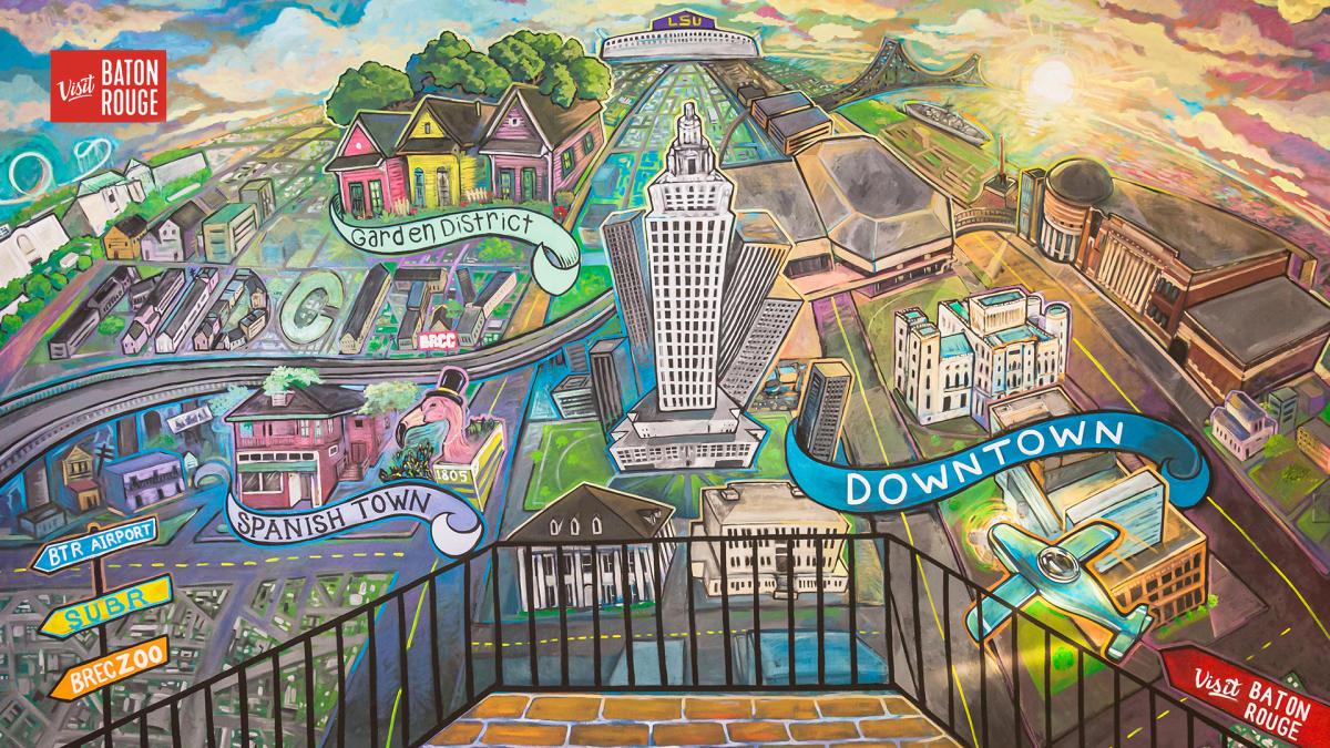 Mural Zoom Background Visit Baton Rouge
