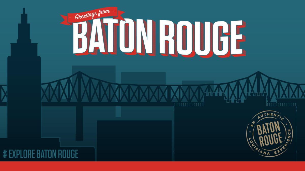Zoom Background Postcard Visit Baton Rouge