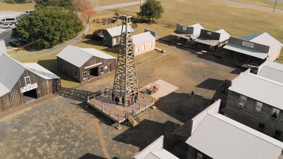 Aerial View Of Farm Buildings