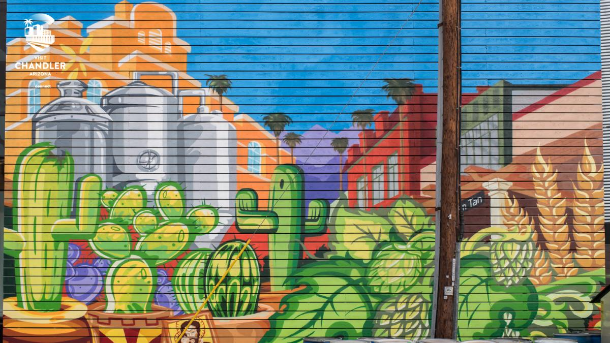 SanTan Brewing Mural - Virtual Background