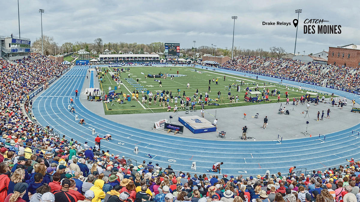 Drake Relays Event with Spectators Zoom Background