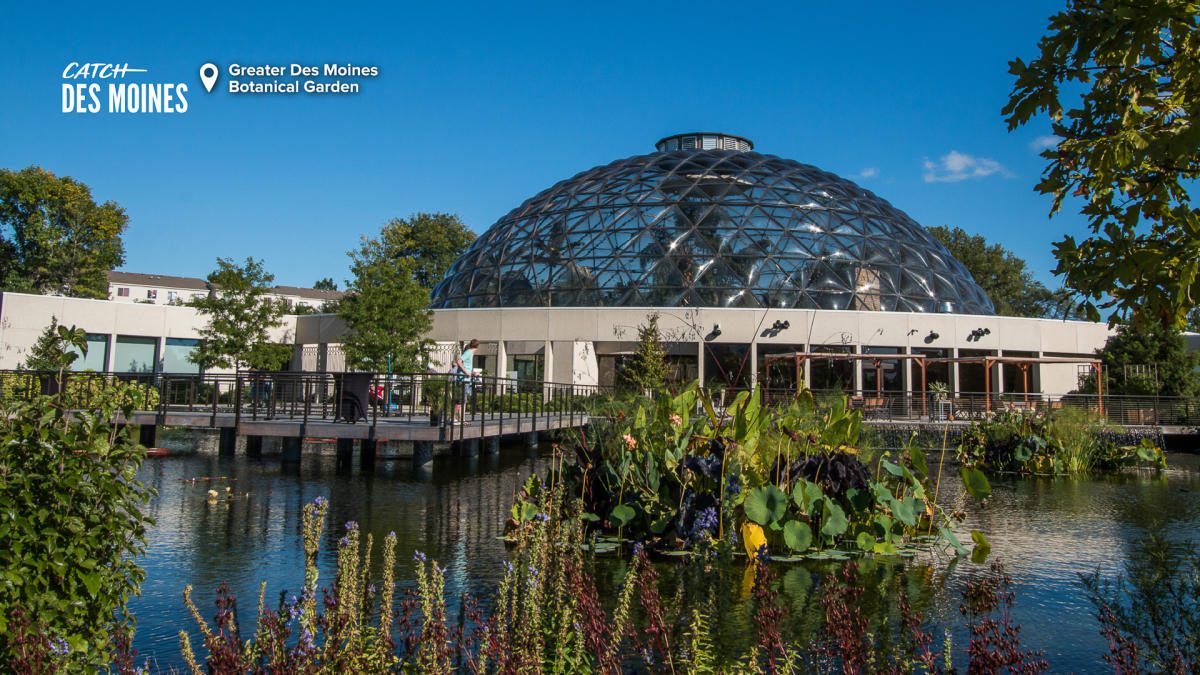 Greater Des Moines Botanical Garden Exterior Zoom Background