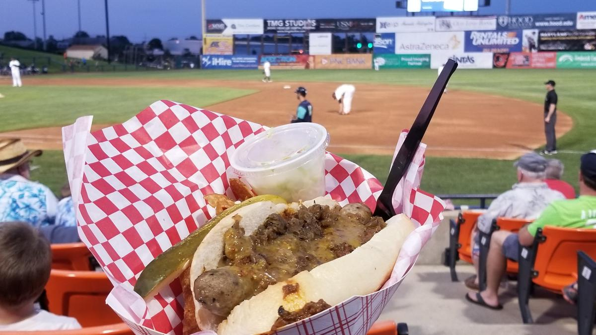 Gourmet Beer Brat from Roasthouse Pub at a Keys Game
