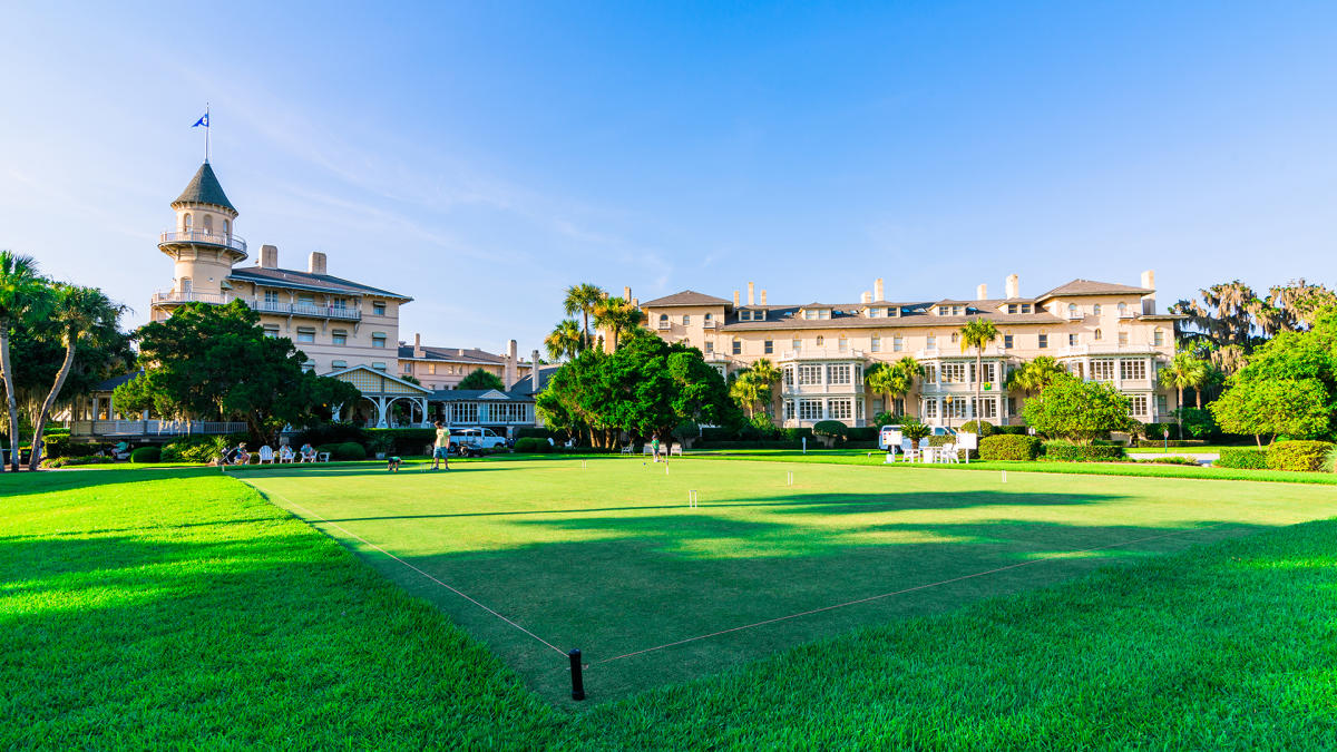 The historic grounds of the Jekyll Island Club Resort provide the perfect setting for a luxurious getaway on Jekyll Island, GA