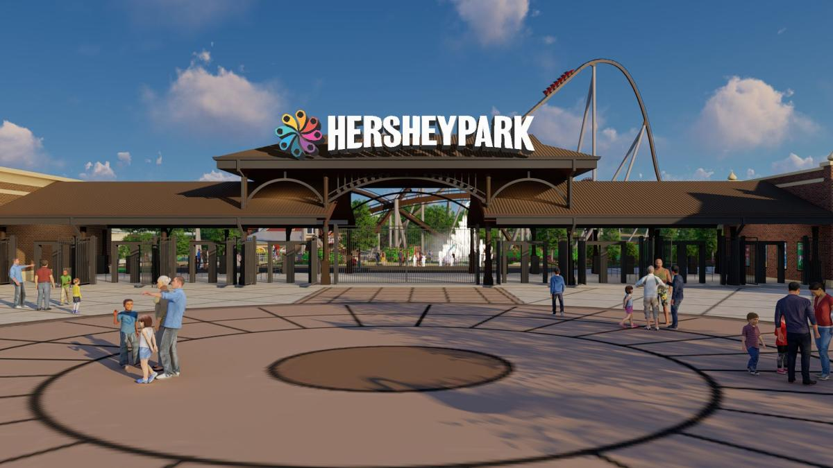 Chocolatetown Entrance at Hersheypark - Rendering 2020