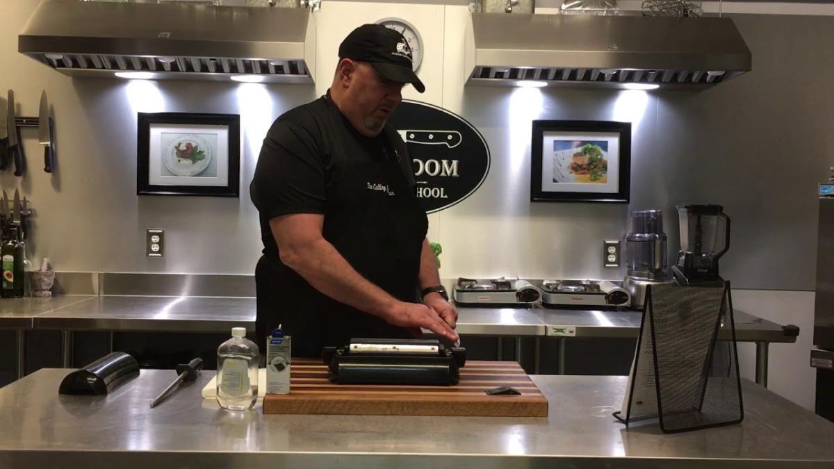 Cutting Edge Classroom Man Working In Kitchen