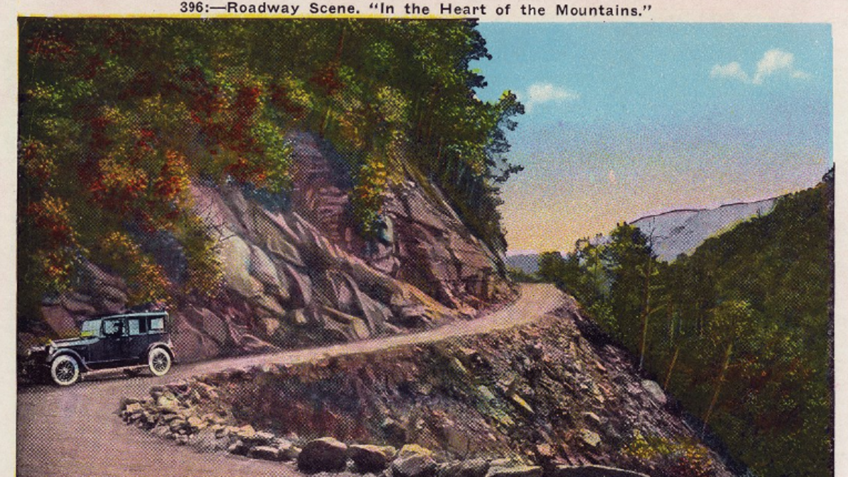 Great Smoky Mountains National Park Postcard courtesy of University of Tennessee Libraries