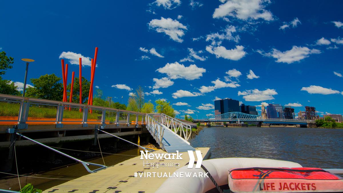 Newark Riverfront Zoom Background