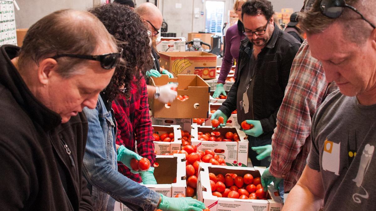 FIND Food bank volunteers