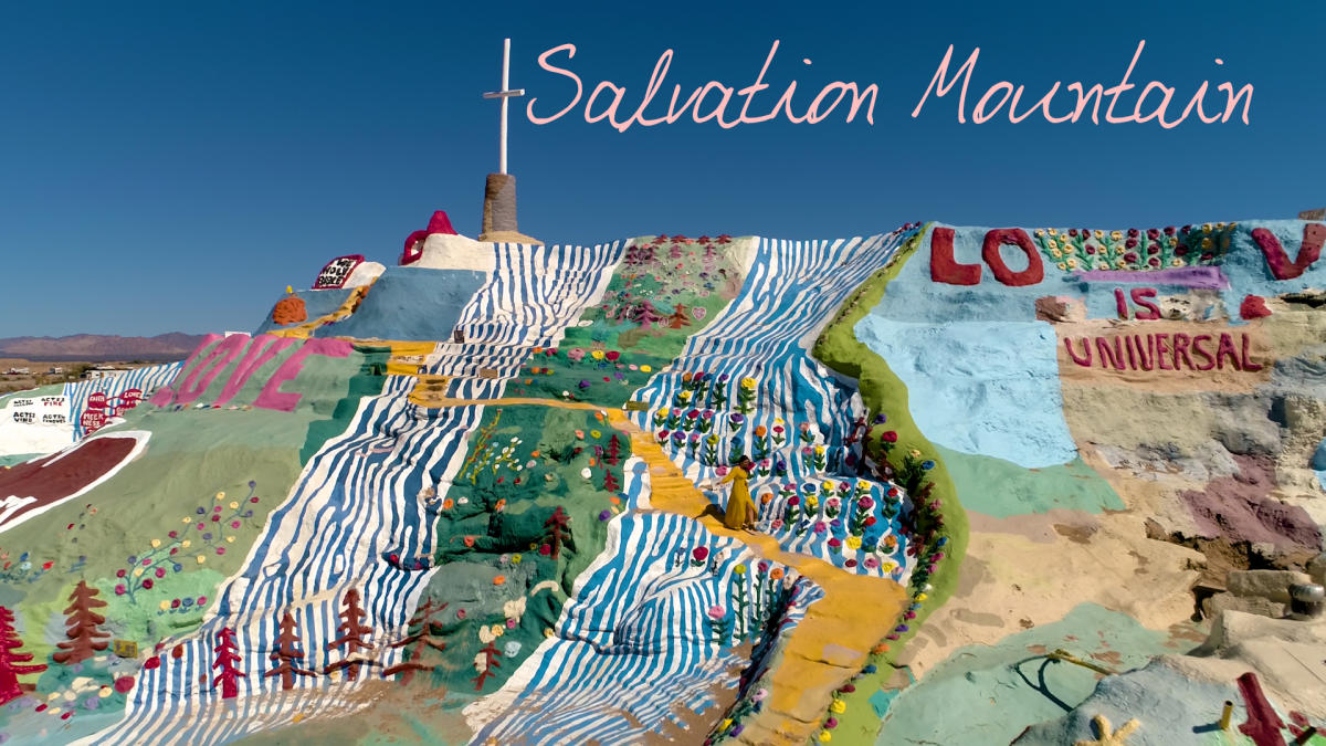 women viewing Salvation Mountain
