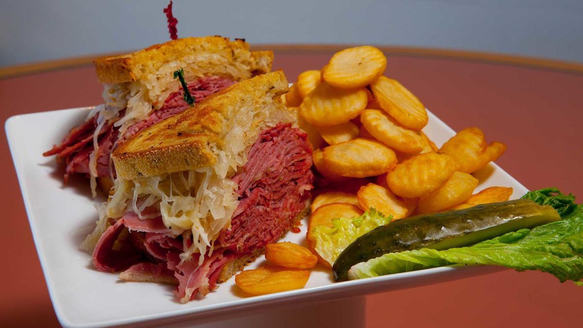 sandwich month shermans deli corned beef reuben web