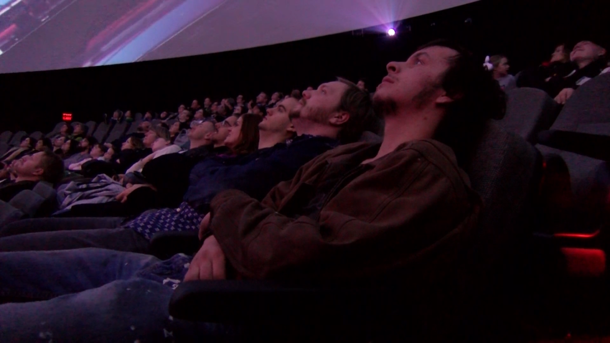 Immerse yourself in the world while never leaving your seat at the Clark Planetarium Dome Show