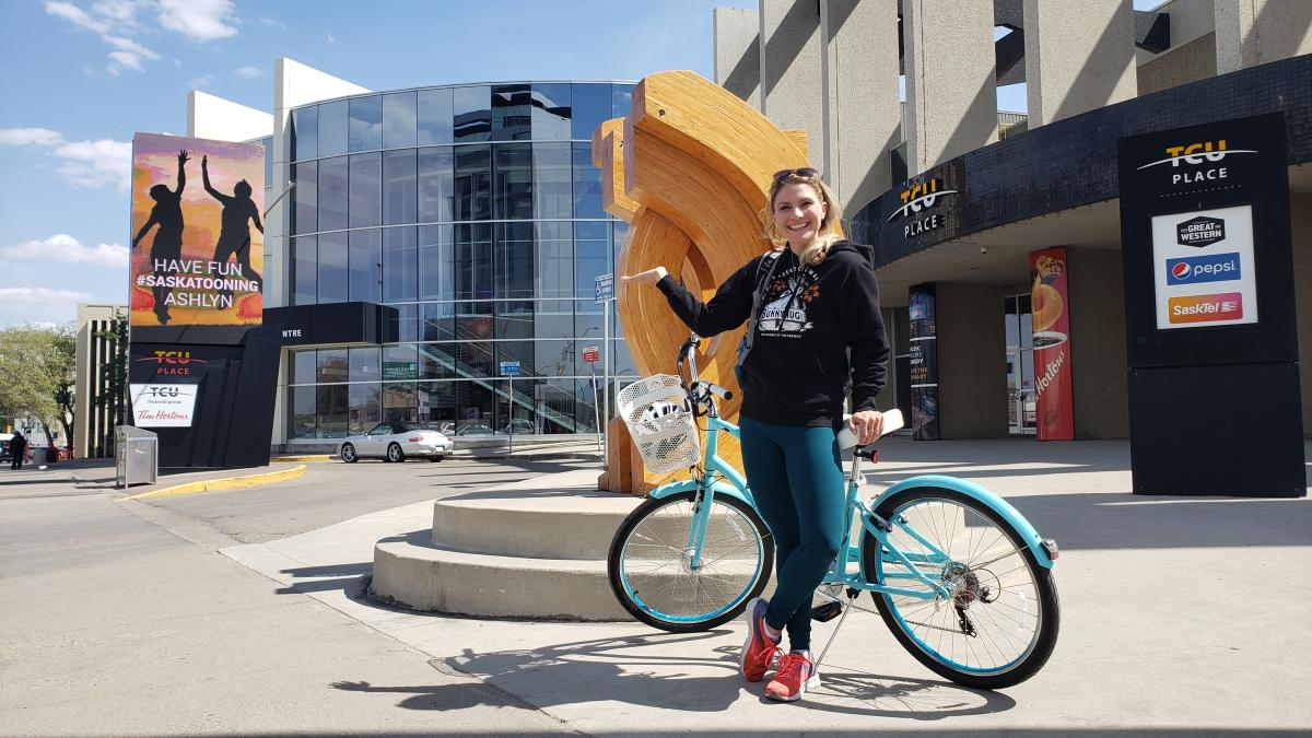 Ashlyn George - Biking in Saskatoon