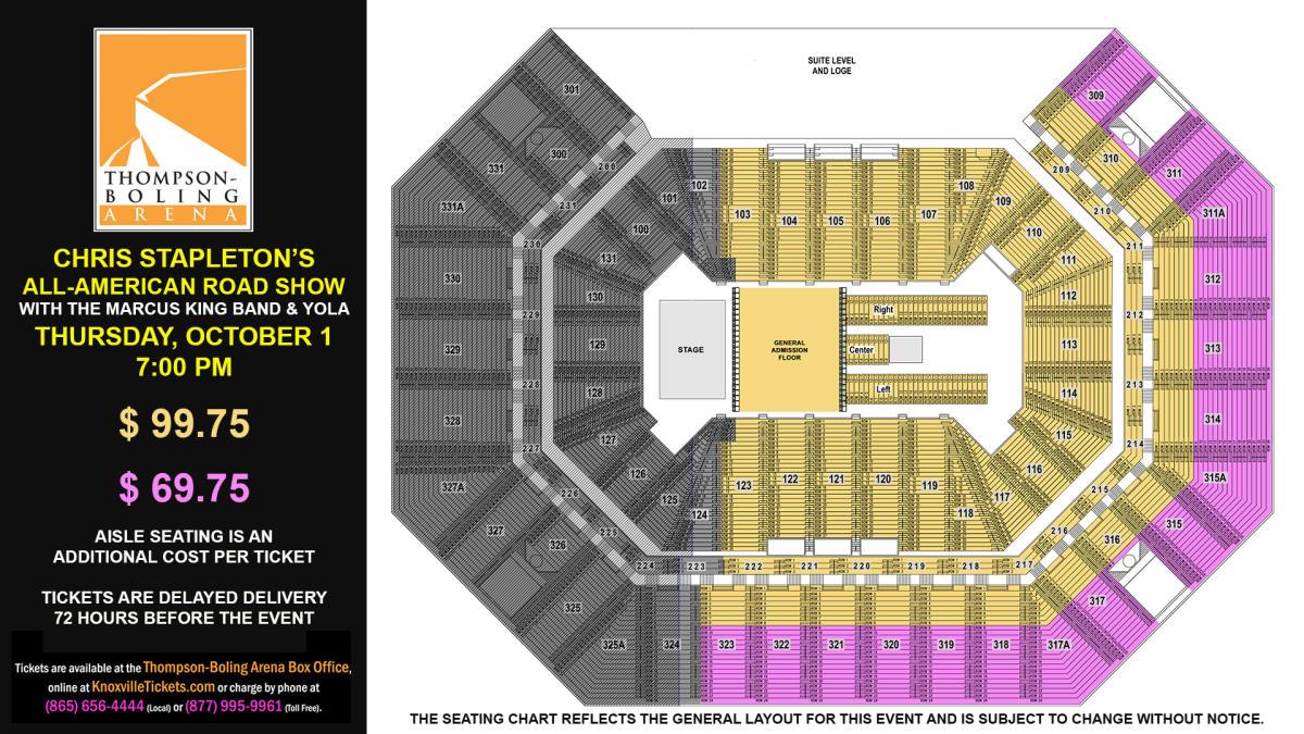 Chris Stapleton Seat Map