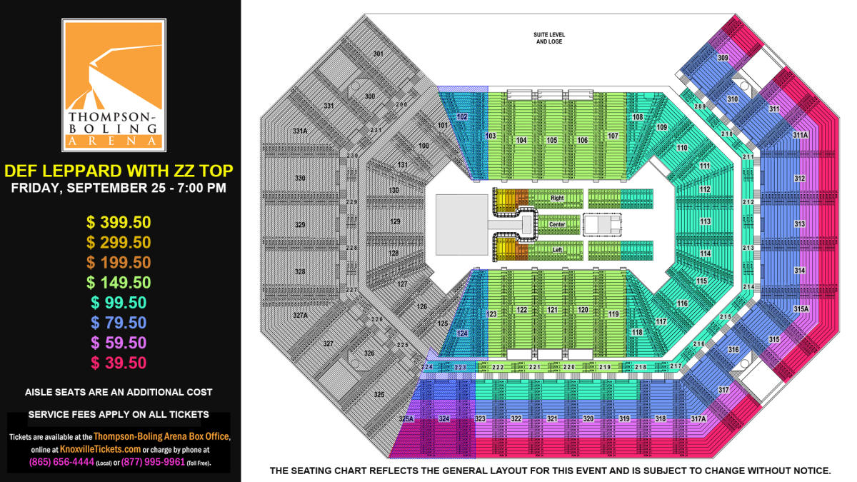 Def Leppard Seat Map