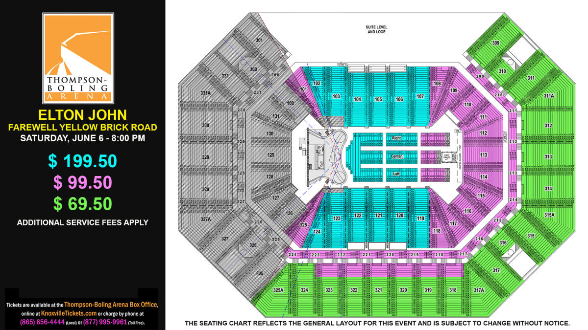 Elton John Seat Map