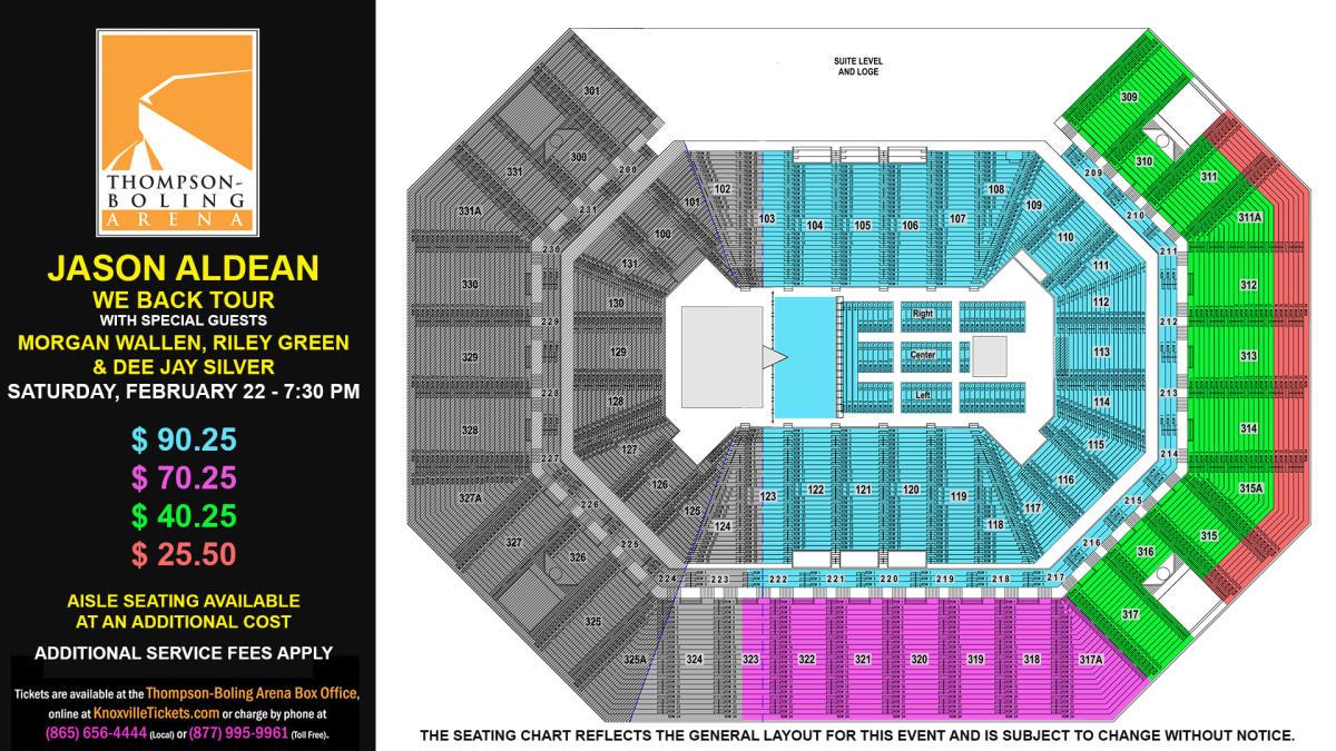 Jason Aldean Seat Map