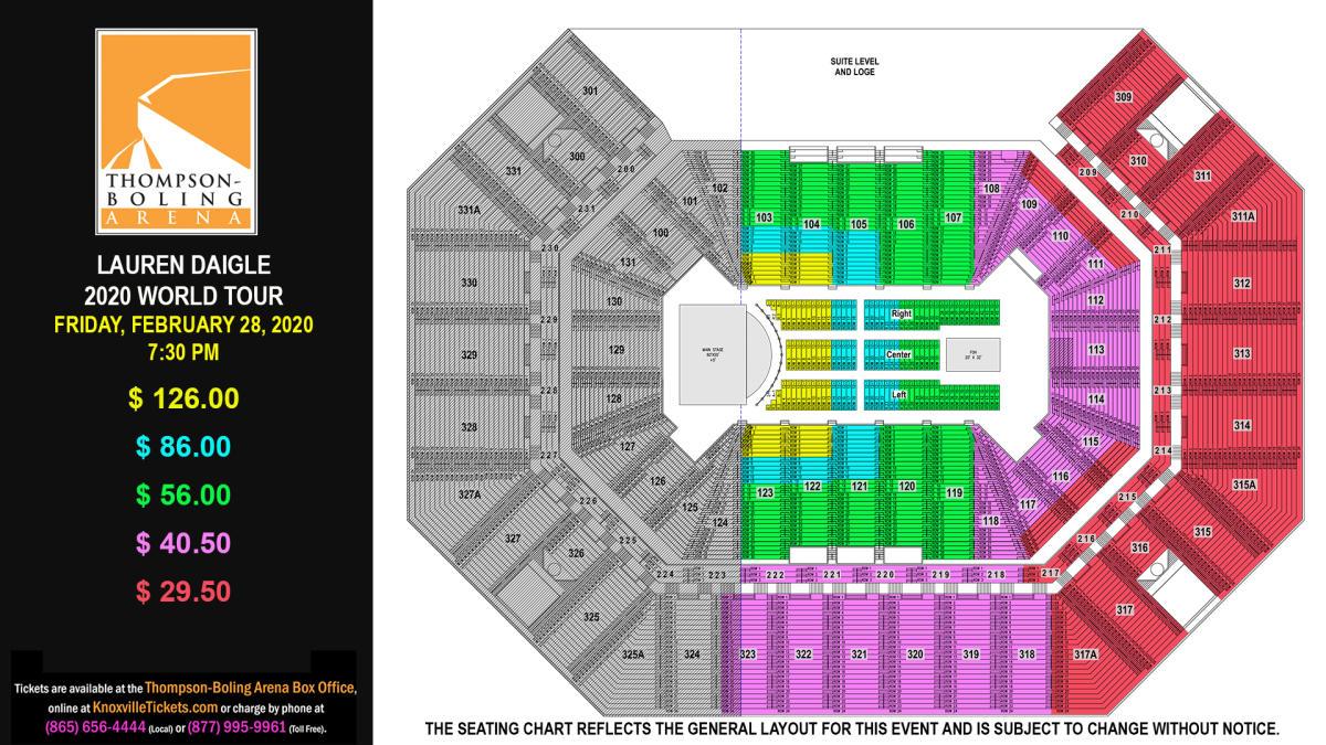 Lauren Daigle Seat Map