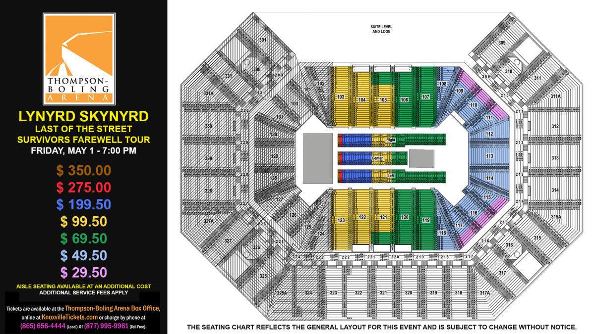 Lynyrd Skynyrd Seat Map