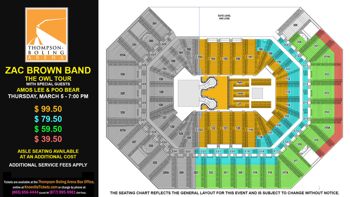 Zac Brown Band Seat Map