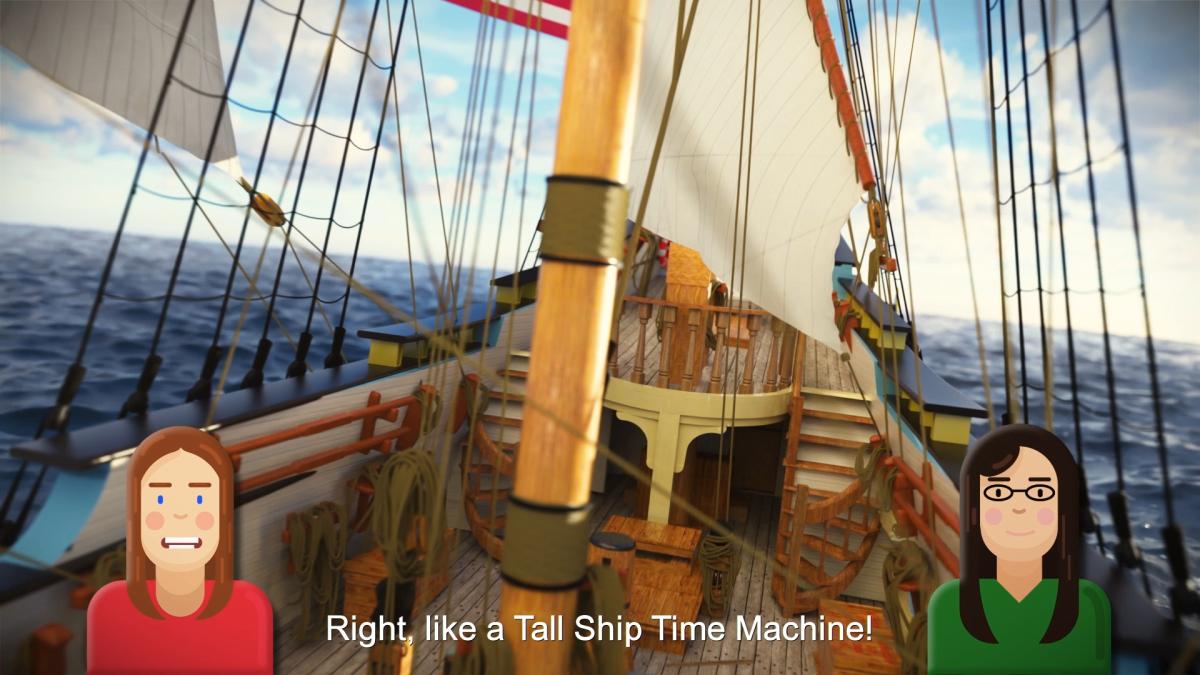 Kalmar Tall Ship Time Machine Exhibit Women Captains