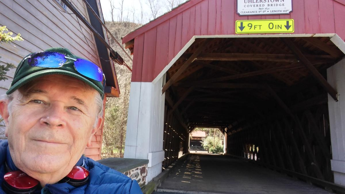 Uhlerstown covered bridge selfie