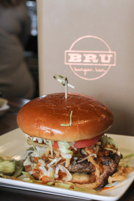 Mexicali Burger at Bru Burger in Plainfield.