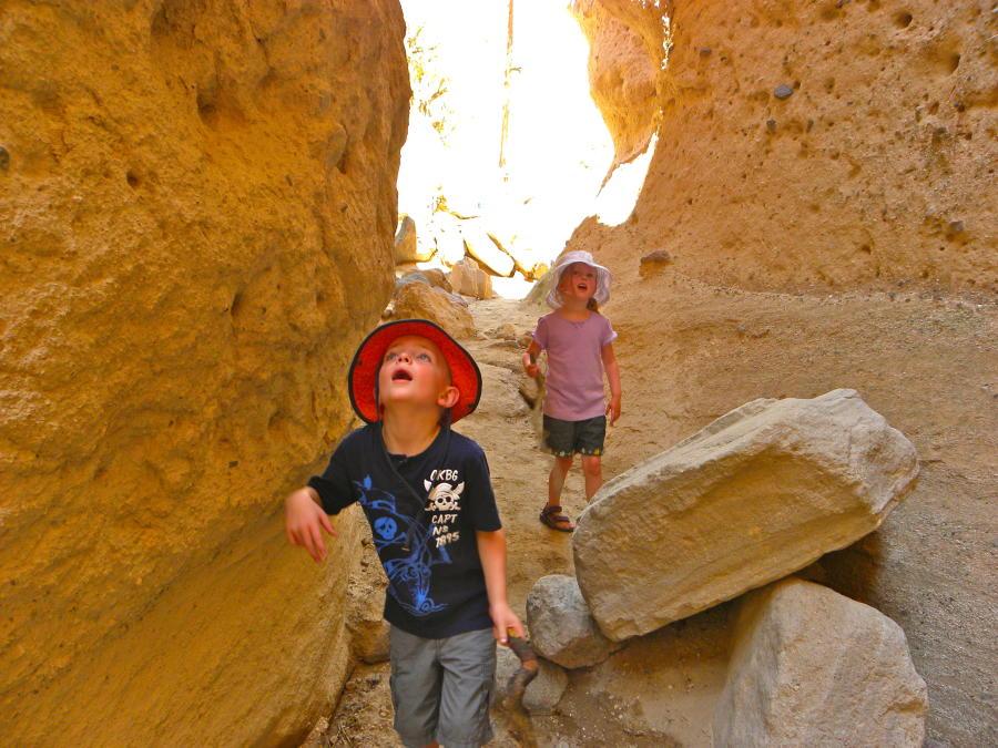 Kids Hiking at Tent Rocks