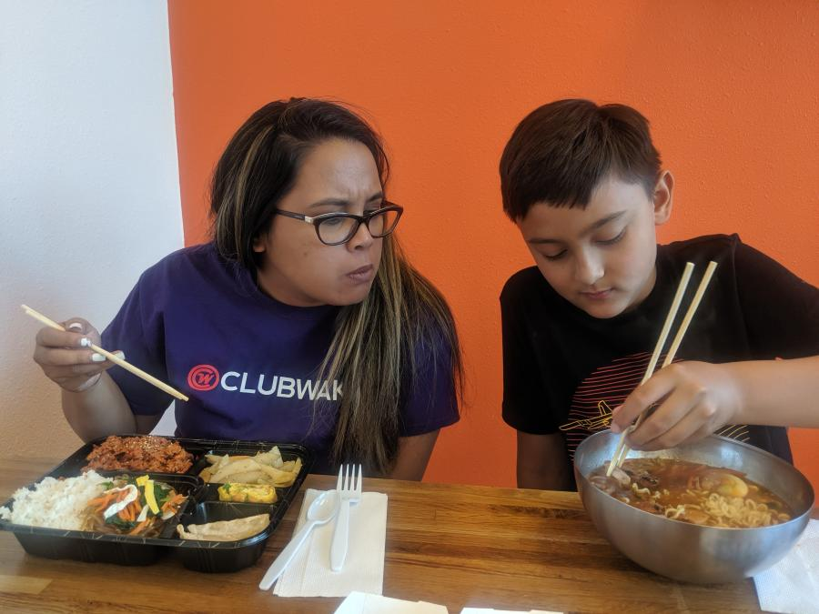 Asian Food Kristelle Siarza and Son