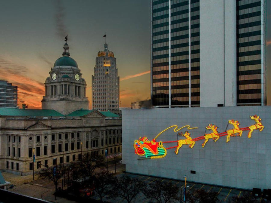 Santa Lights in Downtown Fort Wayne
