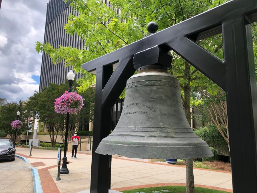 The Huntsville Madison County Courthouse Bell is once again out where people can appreciate it.