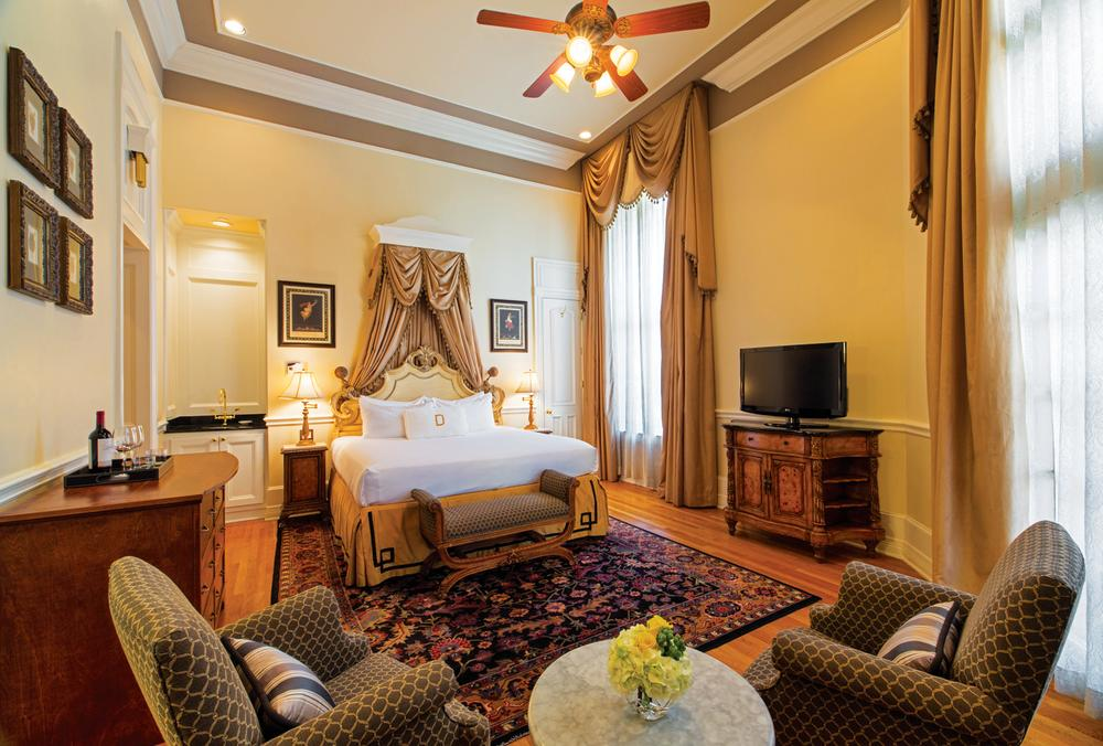 Heritage Bedroom at the Driskill Hotel in Austin Texas