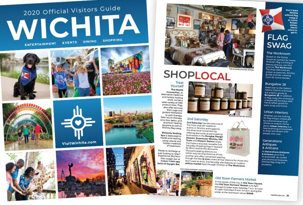 Pictures of the 2020 Official Wichita Visitors Guide