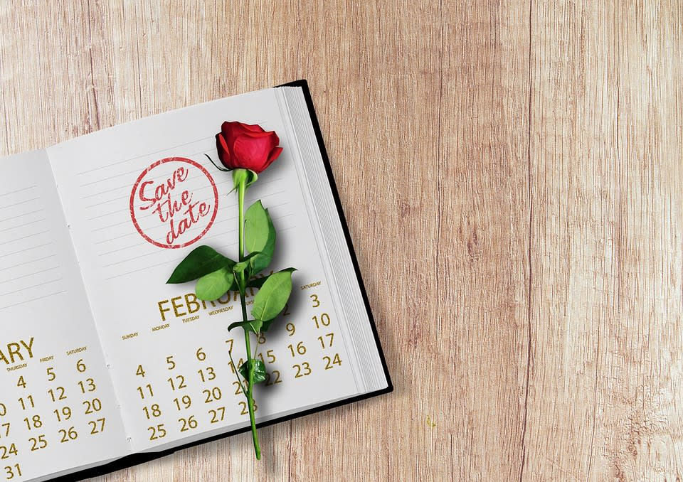 Save the date rose