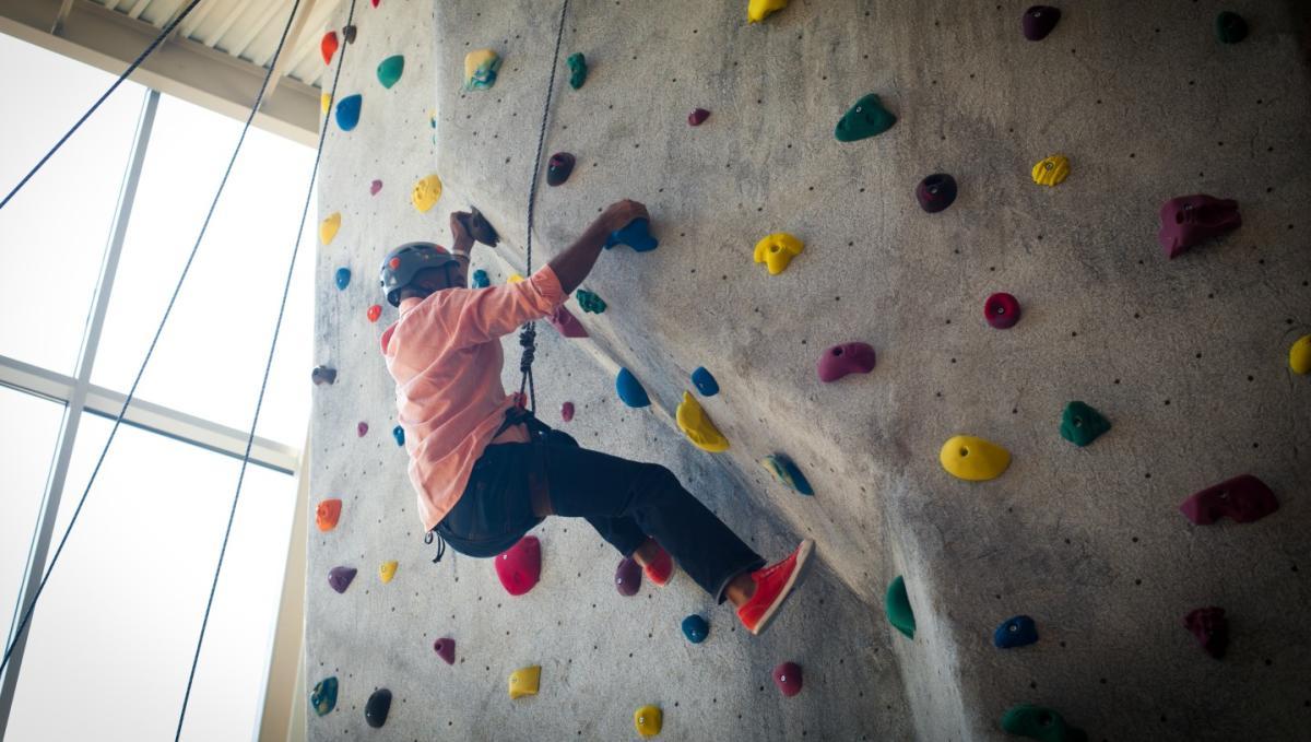 Rock climbing at Roger Carter Center