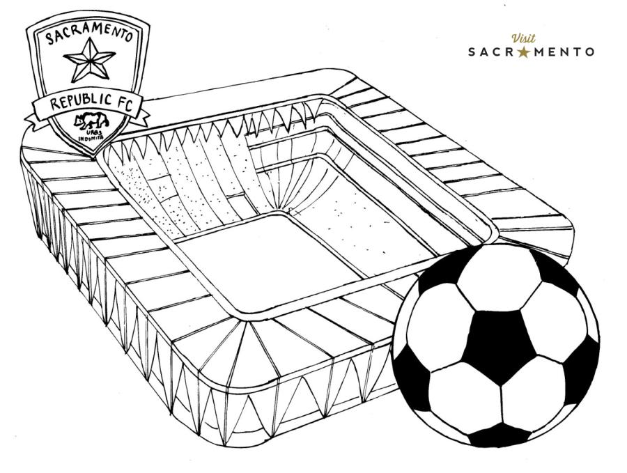 Sacramento Republic FC Stadium Coloring Page