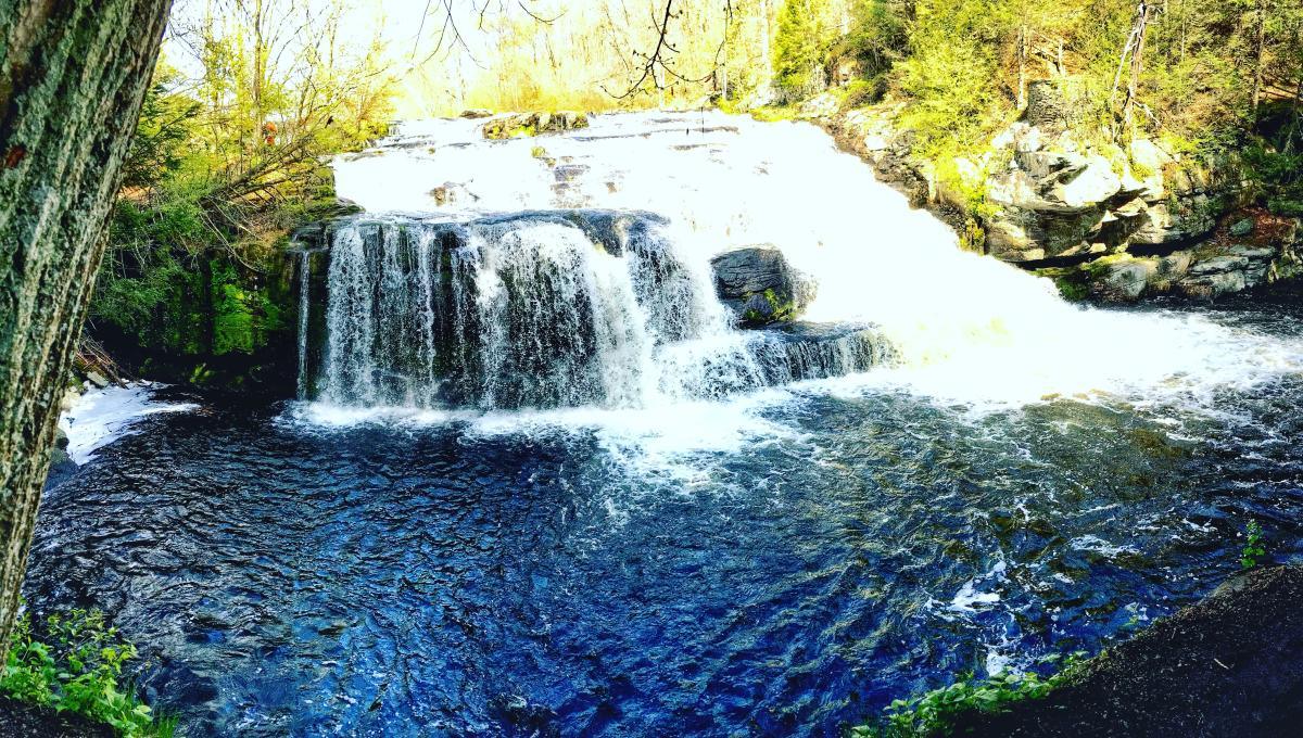 Beautiful Shohola Falls in the Pocono Mountains