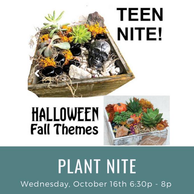 Halloween Plant Nite