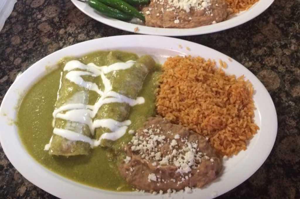 Carne Asada and Enchiladas Verdes at Obelisco
