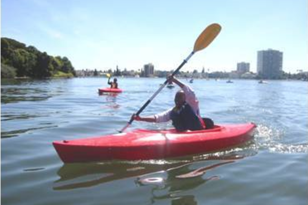 Kayaking on Lake Merritt