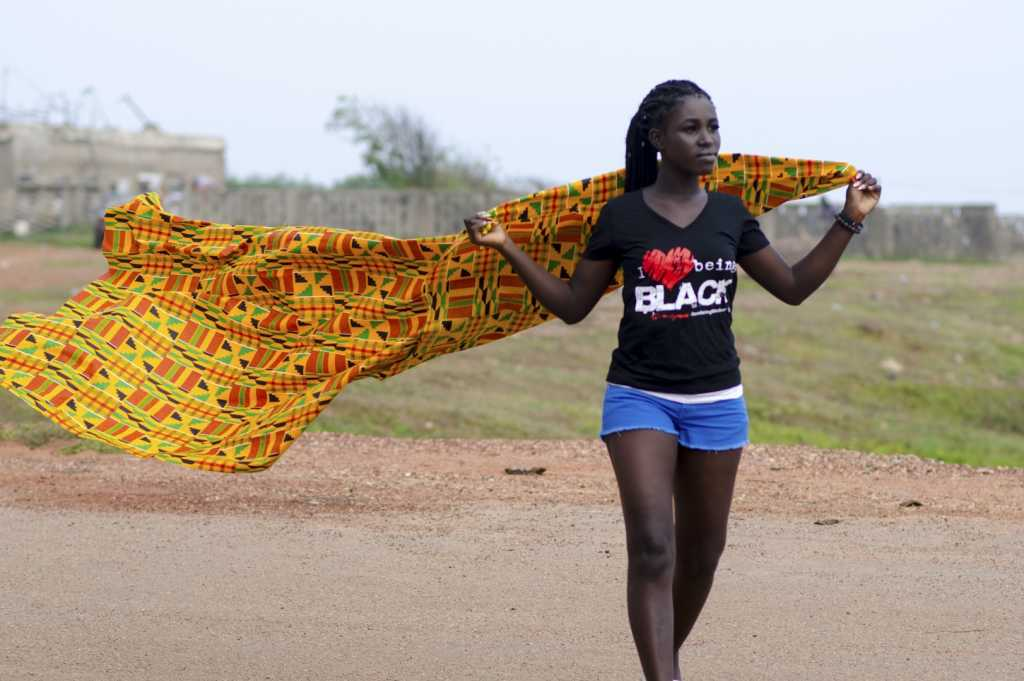 Ghanaian sista in Accra during a photo shoot